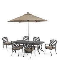 grove hill outdoor cast aluminum 7 pc dining set 84