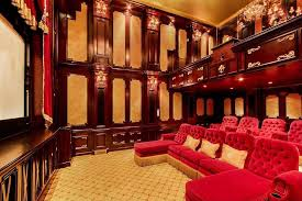 Home Theater Design Nyc Craftsman Home Theater With Crown Molding U0026 Wainscoting In New