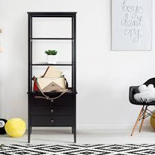 hampton bay 3 shelf standard bookcase in black thd90003 2a of