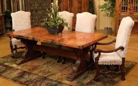 trestle base dining table reclaimed wood trestle table size of wood pedestal dining table