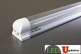 led shop light bulbs 4ft led shop light integrated 20w clear tube garage basement with