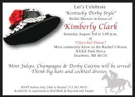 s shower invitations kentucky derby bridal shower invitations kentucky derby bridal