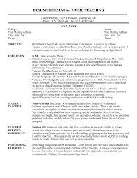 resume format for music teacher it cover letter sample eleme peppapp