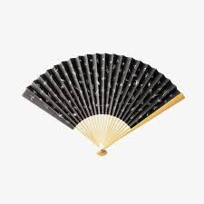 japanese folding fan a black japanese folding fan black fan fan png image and clipart