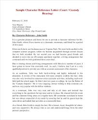 sample character reference letter for court hearing professional