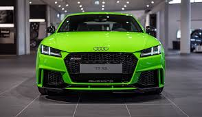 audi in 2017 audi tt rs in lime green looks like a tiny car