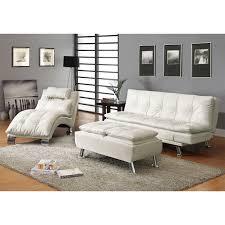 Contemporary Tufted Sofa by Best White Futon Sofa Modern Tufted Bonded Leather Sleeper Futon