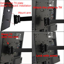 Tv Wall Mount Hardware Videosecu Full Motion Tv Wall Mount For Most 26