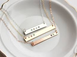 s day birthstone necklace birthstone bar necklace personalized birthstone necklace s