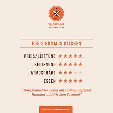 Hummus Kitchen Restaurant Test Freiburg Edo U0027s Hummus Kitchen Stadtbesten