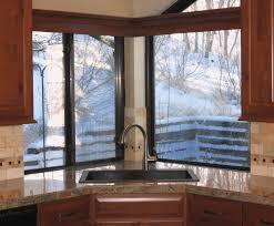 kitchen sink window ideas interesting corner kitchen sink design ideas with windows