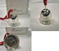 ricci deco silver bell ornament
