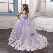 Lilac Dresses For Weddings Aliexpress Com Buy Lilac Pink Lace Tulle Flower Dresses