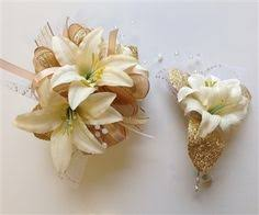 prom corsages and boutonnieres white orchid corsage boutonniere pair prom flowers designer