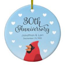 28 30th wedding anniversary ceramic decorations