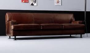 canape droit cuir decoration canapé design droit couleur marron cuir artflex square