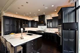 Images Of Kitchens With Black Cabinets 24 Black Kitchen Cabinet Designs Decorating Ideas Design