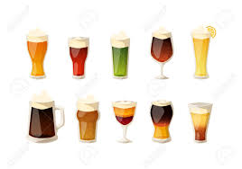 alcohol vector beer vector icons set beer bottle glass and different types