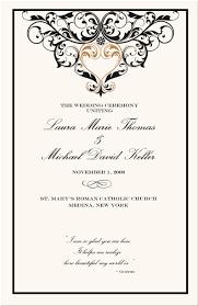 Wedding Programs Samples Wedding Program Clipart