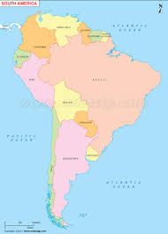 Map Of Latin America With Capitals by South America Map Political Map Of South America With Countries