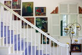 stairway paint ideas staircase shabby chic style with purple