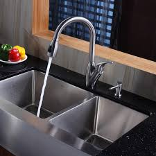 Kitchen Sinks Drop In Double Bowl by Stylish Black Polished Double Bowl With Square Shaped Drop In