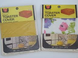 Toaster Covers 60s 70s Vintage Toaster Covers Mint In Package Quilted Plastic