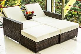 Outdoor Sofa Bed Merax 3 Pc Outdoor Rattan Patio Furniture Wicker Sofa