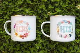his and mug retro cer mug for him his mug inspiration metal enamel
