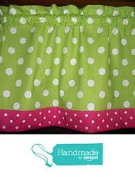 Lime Green Polka Dot Curtains Lime Green Turquoise Polka Dot Fabric Window Topper Curtain
