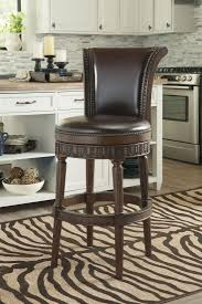 Upholstered Swivel Chairs North Shore Dark Brown Tall Upholstered Swivel Barstool