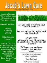 Mowing Business Cards My Lawn Care Flyer What Do You Think Lawnsite