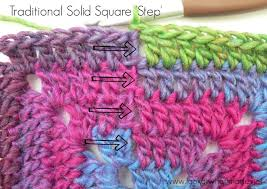 How To Crochet A Rug Out Of Yarn How To Crochet Continuous Solid Square U2013 Look At What I Made