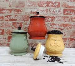tuscan kitchen canisters amazon com tuscany colorful hand painted fleur de lis 7