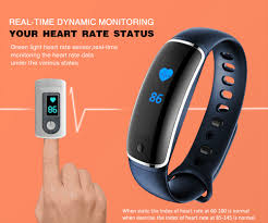 blood pressure wrist bracelet images Lynwo m4 health smart bracelet blue jpg