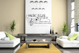 life is picture more detailed picture about music is life that s music is life that s why our hearts have beats vinyl wall sticker decor decal