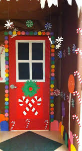 Christmas Door Decorating Contest Ideas Gingerbread Door U0026