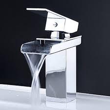 Designer Faucets by Kokols 81h39chr Vessel Waterfall Bathroom Sink Basin Faucets Mixer