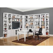 remodelaholic build a wall to wall built in desk and bookcase with