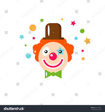 vector flat holiday background clown smile stock vector 381766504