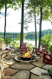 Rustic Firepit Rustic Pit A Rustic Overlooking The Lake Rustic Pit