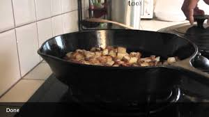 how to cook home fries on the cast iron cast iron cooking youtube