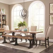 Farm Table With Bench And Chairs Scott Living Bishop Farmhouse Table Set With Parson Chairs And A