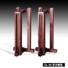 All Wood Bookshelves by Cl 04 Black Walnut All Solid Wood Triangular Speaker Tripod