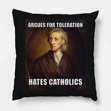 John Locke Meme - john locke tolerance meme funny philosophy memes throw pillow