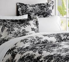 Black And White Toile Bedding Black U0026 White Classic Matine Toile Duvet Cover U0026 Sham Black