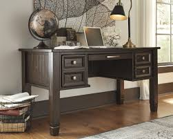 Brown Office Desk Townser Grayish Brown Home Office Desk H636 27 Home Office