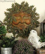 metal copper sun face sunflower yard art garden wall decor large
