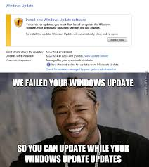 Meme Update - windows update fails by entermask meme center