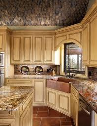 Mediterranean Kitchen Cabinets - copper sinks convention other metro mediterranean kitchen